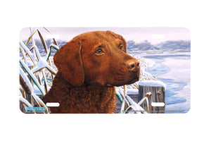 "Airstrike® 5312-""Bay Buddy"" Chocolate Labrador Dog License Plate"
