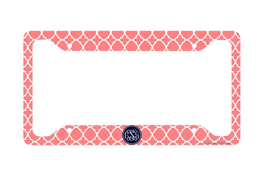monogrammed license plate frame  monogram car tag