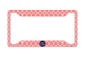 Monogrammed License Plate Frame, Monogram Car Tag Frame, Monogrammed License Plate Holder, Cute Monogrammed License Plate Frame-30-694