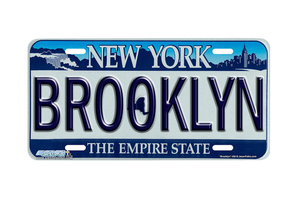 Airstrike® New York License Plates Brooklyn New York State License Plate-452