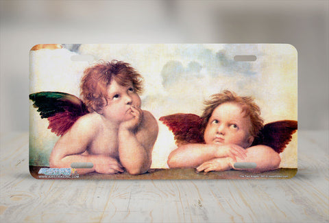 "Airstrike® 547-""The Two Angels""-Angels License Plate"