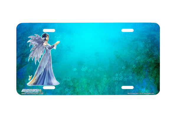 "Airstrike® 422-"" Blue Forest Fairy"" Fairy License Plates"
