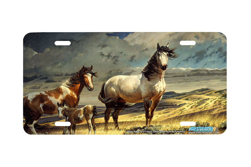 "Airstrike® 6519-""Windy Ridge"" Horse License Plates"