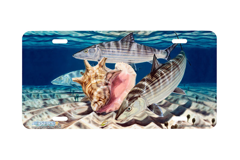 "Airstrike® Fishing License Plates 5019-""Bones and Conch"" License Plate"