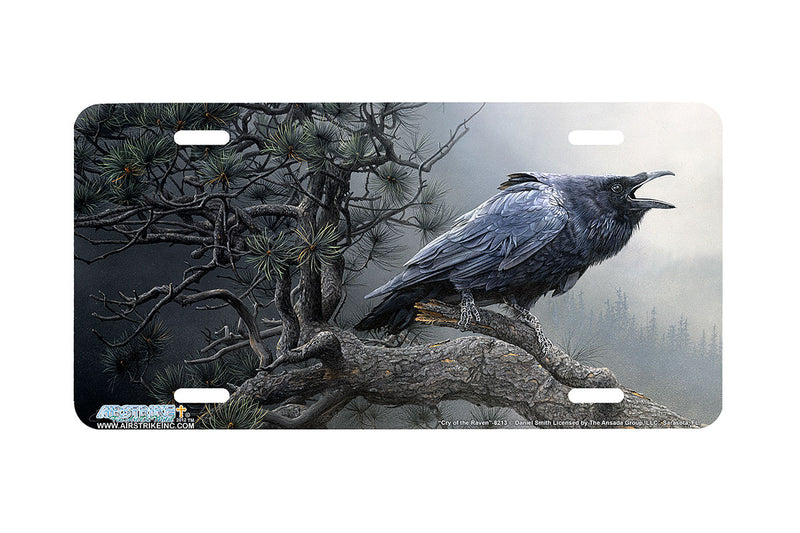 "Airstrike® 8213-""Cry of the Raven""-Raven License Plate"