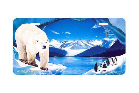 "Airstrike® 221-""Polar Icelands"" License Plate"