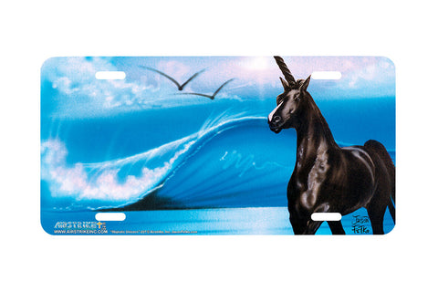 "Airstrike® 227-""Majestic Unicorn"" License Plate"
