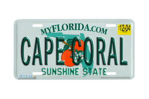 "Airstrike® 592-""Florida State Plate Cape Coral""-License Plate"