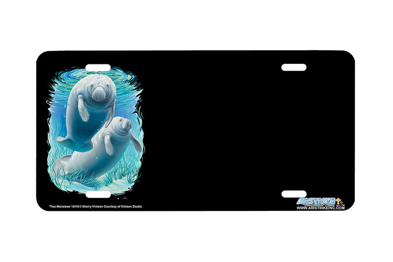 "Airstrike® Manatee License Plate 3415-""Two Manatees"" Manatee License Plate"