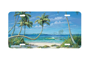 "Airstrike® Beach License Plate 3409-""Quiet Shores"" Beach Scene License Plate s"