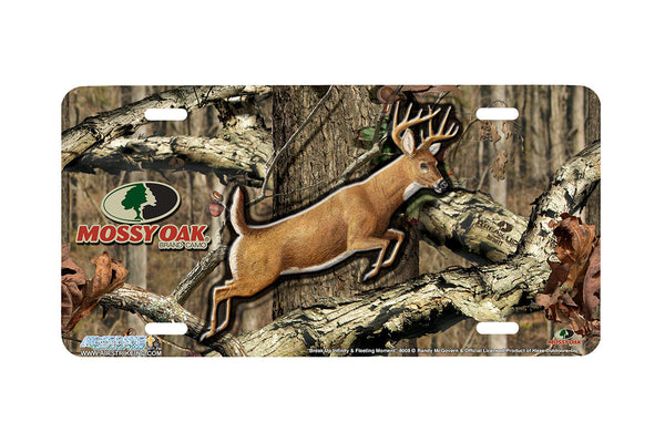 "Airstrike® Mossy Oak License Plate 8008-""Break Up Infinity and Fleeting Moment""-Mossy Oak Camo Deer License Plate"