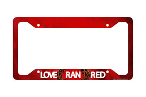 Airstrike® Christian License Plate Frame, Christian Car Tag Frame, Christian License Plate Holder, Love Ran Red Decorative License Plate Frame-30-696