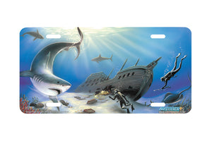 "Airstrike® Diver License Plate 226-""Sunken Treasures"" License Plate"