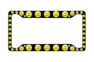 Airstrike® Smiley Face License Plate Frame, Smiley Face Car Tag Frame, Smiley Face License Plate Holder, Smiley Decorative License Plate Frame-30-420