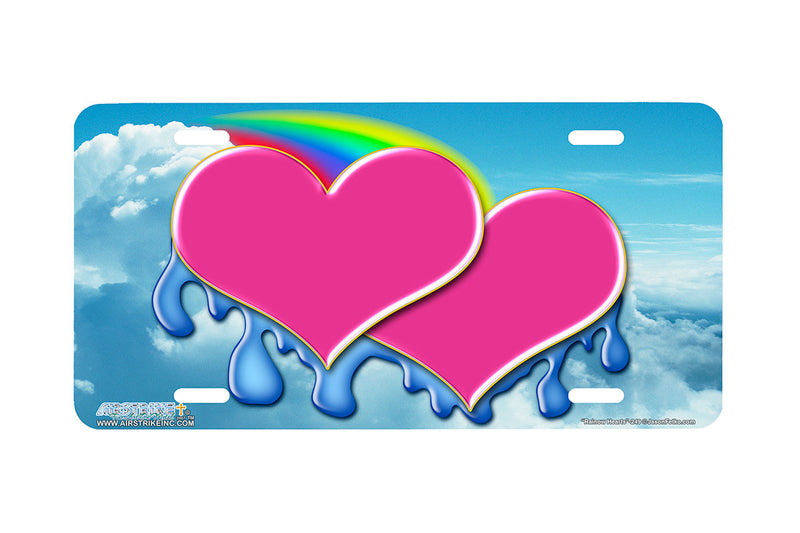"Airstrike® 249-""Rainbow Hearts"" Heart License Plates"