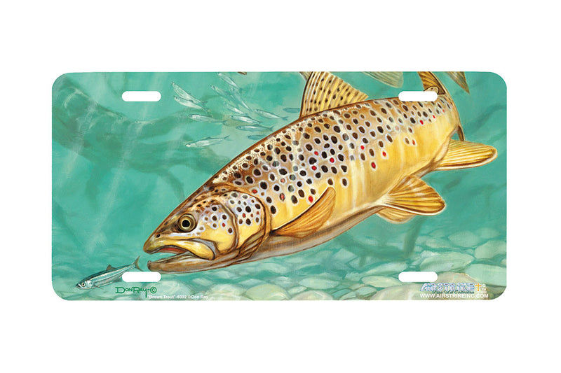 "Airstrike® Fishing License Plates 5032-""Brown Trout"" License Plate"