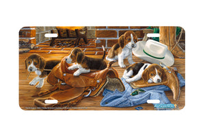 "Airstrike® 5364-""The Wranglers"" Beagle Dog License Plates"