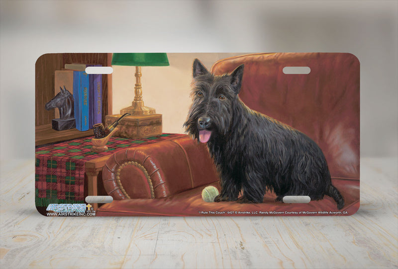 "Airstrike® 5427-""I Rule this Couch""-Scottish Terrier License Plate"
