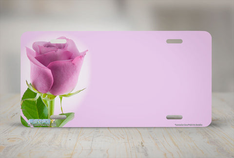 "Airstrike® 291-""Lavender Rose"" Rose Flower License Plates"