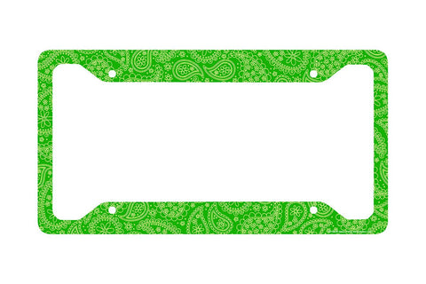 Airstrike® Paisley License Plate Frame, Green Paisley Car Tag Frame, Paisley License Plate Holder, Cute License Plate Frame-30-706