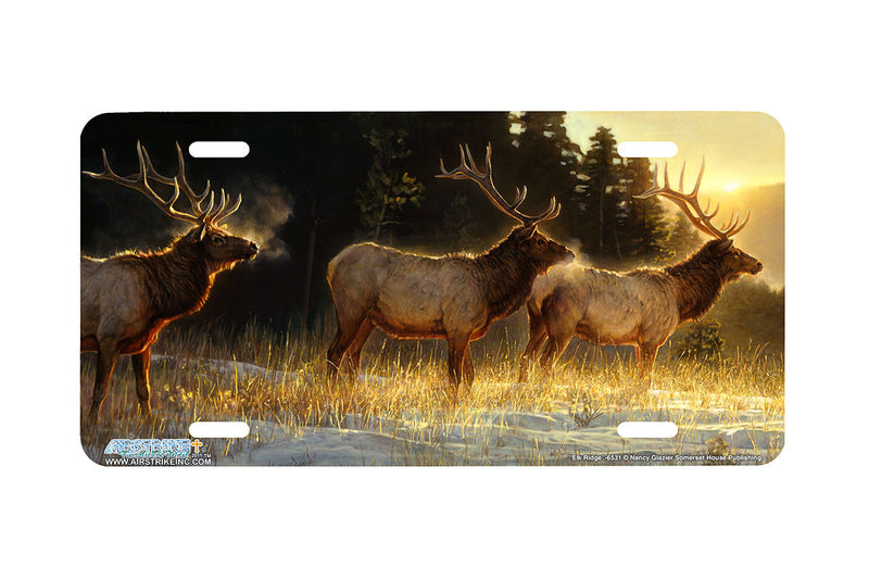 "Airstrike® 6531-""Elk Ridge""-Elk License Plate"