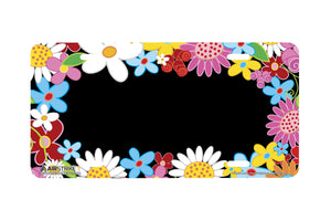 "Airstrike® 372-""Flower Power"" Flower License Plate"