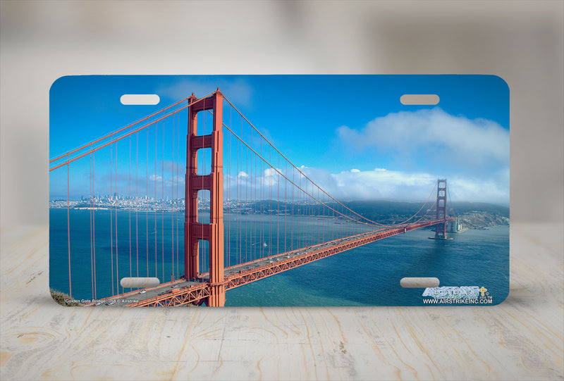 "Airstrike® 268-""Golden Gate Bridge"" License Plates"