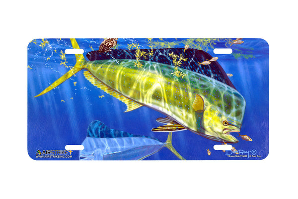 "Airstrike® Fishing License Plates 5022-""Green Mahi"" License Plate"