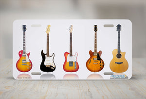 "Airstrike® 266-""Guitars""  Guitars License Plates"