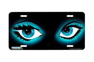 "Airstrike® 374-""Blue Eyes"" Airbrushed License Plate"