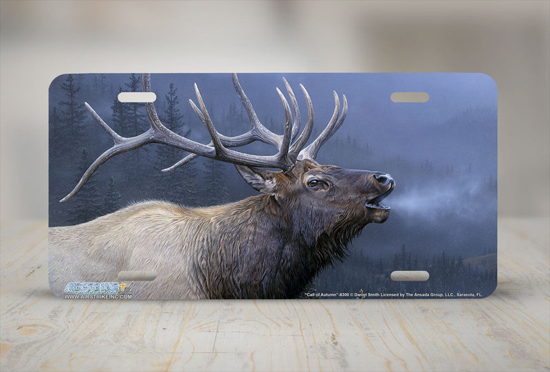 "Airstrike® 8300-""Call of Autumn""-Elk License Plate"