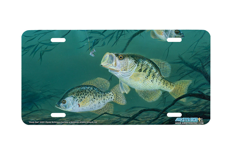 "Airstrike® Fishing License Plates 5220-""Shady Deal"" License Plate"