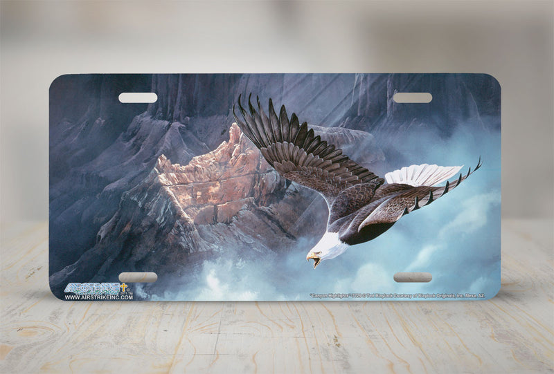"Airstrike® 7729-""Canyon Highlights""-Eagle License Plate"