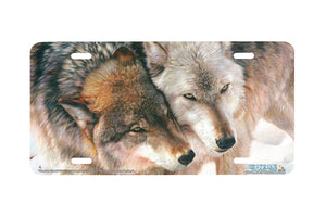 "Airstrike® Wolf License Plate 3161-""Cheek to Cheek"" Wolf License Plate"