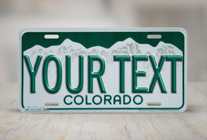 "Airstrike® 552-""Colorado State License Plate""-Vanity License Plate"