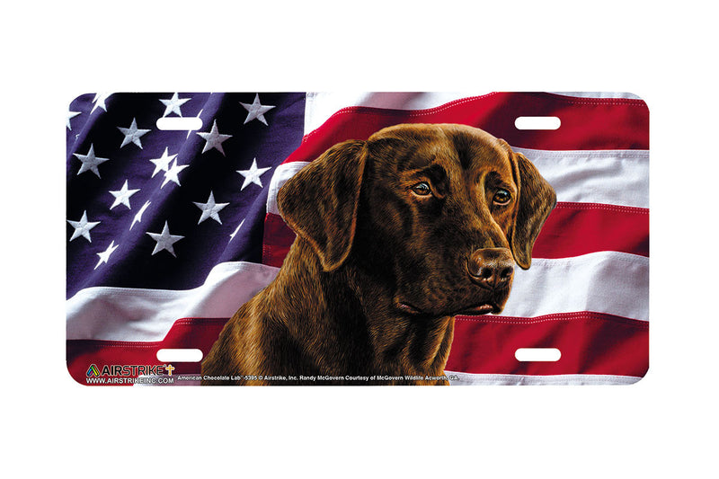 "Airstrike® 5395-""American Chocolate Lab"" Dog License Plate"
