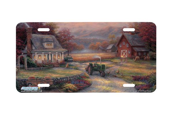 "Airstrike® 3710-""Afternoon Harvest""-Farm License Plate"