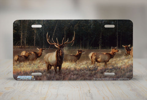 "Airstrike® 6537-""Morning Magic""-Elk License Plate"
