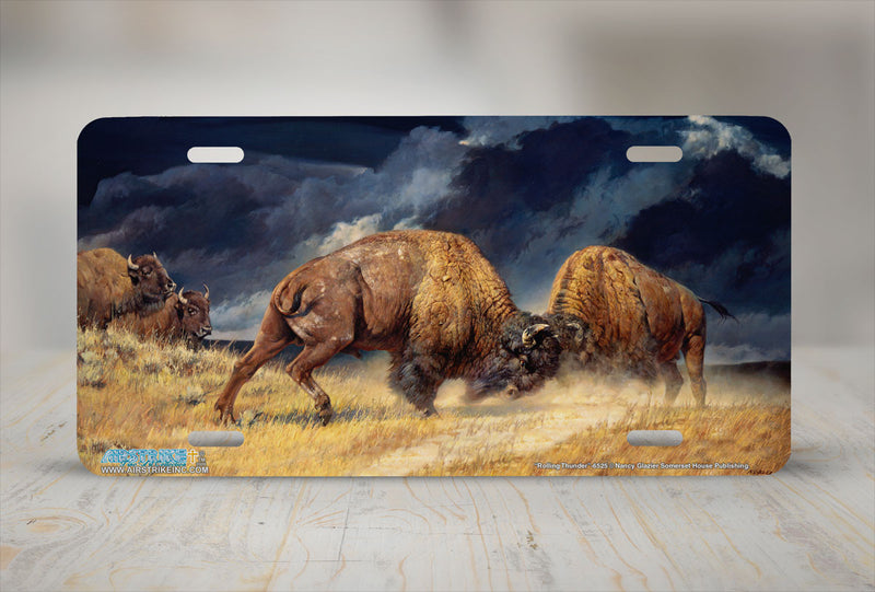 "Airstrike® 6525-""Rolling Thunder"" Buffalo License Plates"