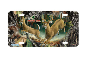 "Airstrike® Mossy Oak License Plate 8034-""Break Up Ringer with Higher Ground""-Mossy Oak Camo Deer License Plate"