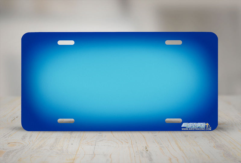 "Airstrike® 409-""Blue Ringer"" Blue Background License Plates"
