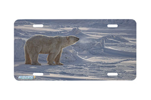"Airstrike® 8321-""Arctic Aura""-Polar Bear License Plate"