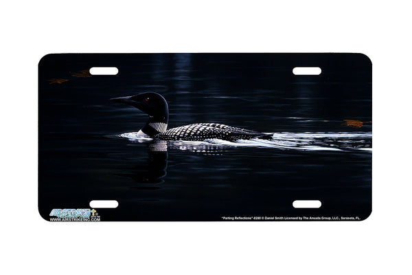 "Airstrike® 8280-""Parting Reflections""-Loon License Plate"
