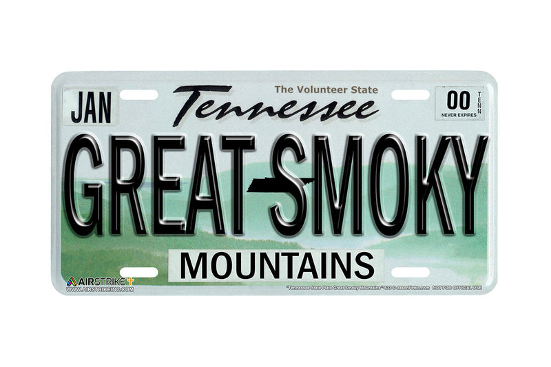 "Airstrike® 633-""Tennessee State License Plate Great Smoky Mountains""-Vanity License Plate"