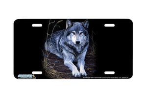 "Airstrike® Wolf License Plate 8318-""Wolf Portrait""-Wolf License Plate"