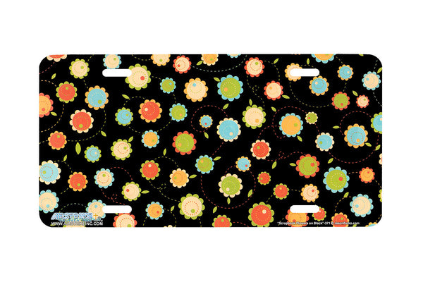 "Airstrike® 371-""Scrapbook Flowers"" Scrapbook License Plates"