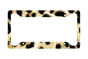 Airstrike® Cheetah License Plate Frame, Cheetah Car Tag Frame, Cheetah License Plate Holder, Cute Cheetah Print License Plate Frame-30-272
