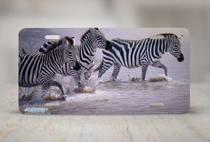 "Airstrike® 8218-""Risky Crossing""-Zebra License Plate"