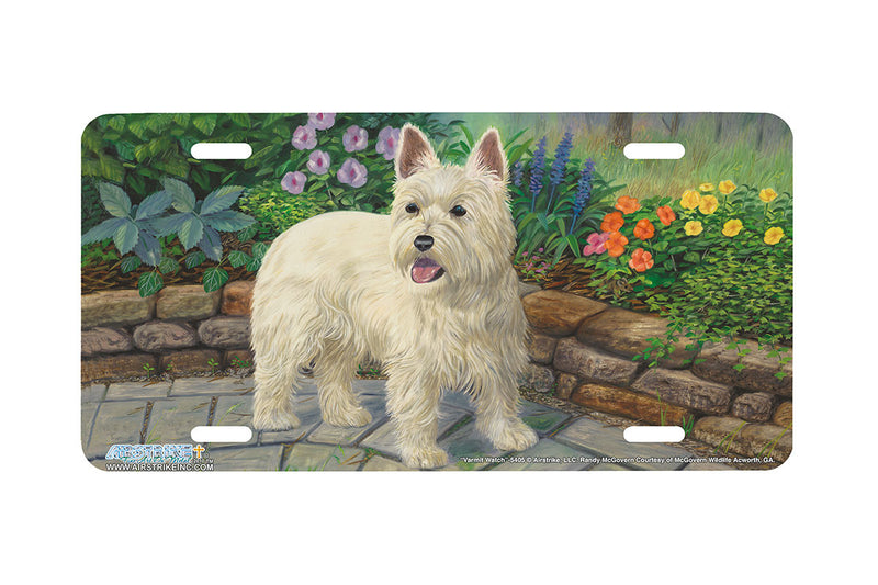 "Airstrike® 5405-""Varmit Watch"" West Highland Terrier License Plate"