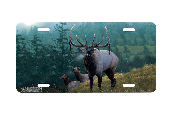"Airstrike® 8301-""Autumn Acapella""-Elk License Plate"